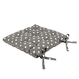"Icrafts India Grey Cotton Chair Pad - Seat Cushion 14.5"" -"
