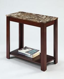 Crown Mark Devon Chair Side Table, New, Free Shipping