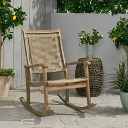 Dory Outdoor Rustic Wicker Rocking Chair