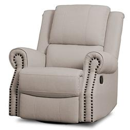 Delta Children Dylan Nursery Recliner Glider Swivel Chair, F