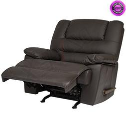 dzvex deluxe padded leather rocking