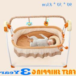 Electric Automatic Baby Rocking Chair Sleeping Bed Swing Cra