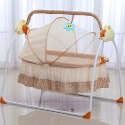 Electric Baby Crib Cradle Automatic Rocking Chair USB Remote