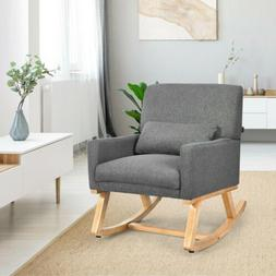 Elegant Electric Massage Rocking Chair Upholstered Armchair