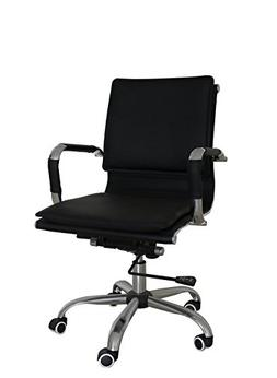 Uomax Ergonomic Executive Office Chair Mid back Bonded Leath