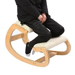 Ergonomic Kneeling Chair for Upright Posture - Rocking Chair