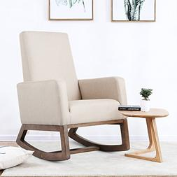 Homedex Fabric Morden Rocking Upholstered Relax Chair