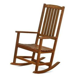 Furinno FG16705 Tioman Hardwood Rocking Chair in Teak Oil