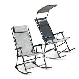 Foldable Zero Gravity Rocking Patio Lounge Recliner Outdoor