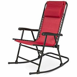 FOLDABLE ZERO GRAVITY ROCKING PATIO RECLINER LOUNGE CHAIR W/