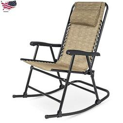 Foldable Zero Gravity Rocking Patio Recliner Lounge Chair He