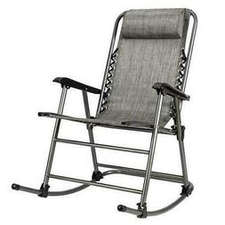 Folding Rocking Chair Leisure Chair Outdoor Patio Rocker for