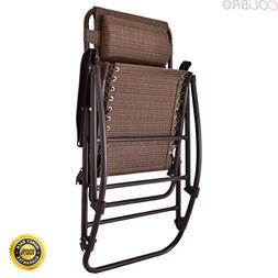 COLIBROX--Folding Rocking Chair Porch Patio Indoor Foldable