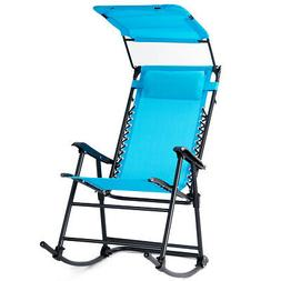 Folding Rocking Chair Rocker Porch  Zero Gravity Furniture W