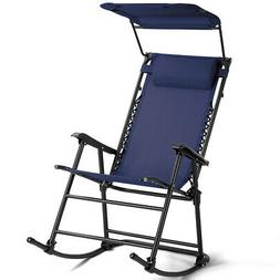 Folding Rocking Chair Rocker Porch Zero Gravity Patio Furnit