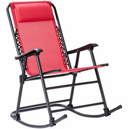 Folding Zero Gravity Rocking Chair Rocker Porch Indoor Patio