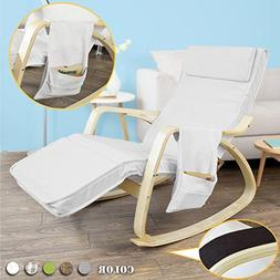 Haotian FST18-W, Comfortable Relax Rocking Chair, Gliders,Lo