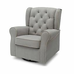 Delta Children Emerson Upholstered Glider Swivel Rocker Chai