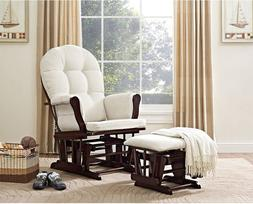 Glider Rocker Nursery Rocking Chair with Ottoman Best Espres