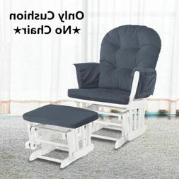 NEW Glider Rocking Chair Ottoman Cushions Set Baby Nursey Mo