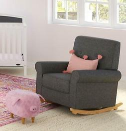 Graco Harper Tufted Rocker, Night Sky Cleanable Upholstered