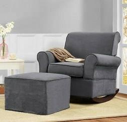 gray rocker chairs and or ottoman rocking