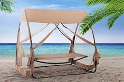 Sunjoy Hammock Chair with Canopy & Netting