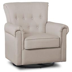 Delta Children Harper Glider Swivel Rocker Chair, Flax