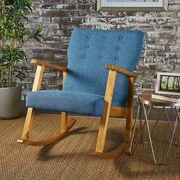 Harvey Mid Century Modern Fabric Rocking Chair by Blue Moder