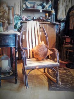 Hickory Rocking Chair Amish Made in USA -  FREE SHIPPING!!