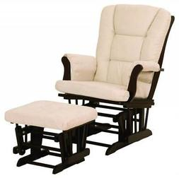 Storkcraft Hoop Glider and Ottoman Set, Espresso/Beige