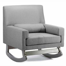 Baxton Studio Imperium Wood and Grey Fabric Contemporary Roc
