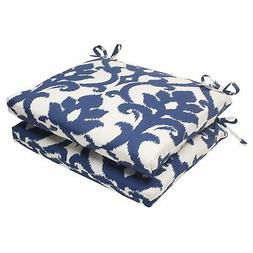 Set of 2 Pillow Perfect Indoor Outdoor Bosco Squared Seat Cu