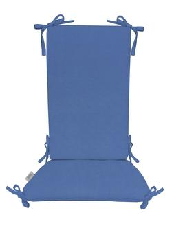 indoor outdoor sunbrella canvas capri blue rocking