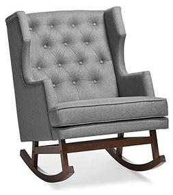 Baxton Studio Iona Rocking Chair in Gray