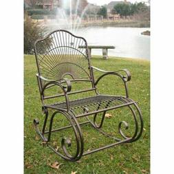 Iron Patio Sun Ray Bronze Rocker