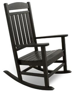 Ivy Terrace IVR100BL Classics Rocker Chair, Black