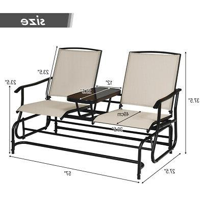 2 Outdoor Double Chair Loveseat Rocking Center