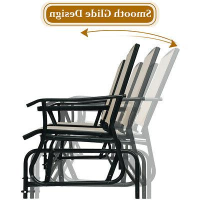 2 Outdoor Double Glider Loveseat Rocking with