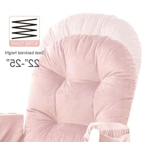 5pc & Ottoman Baby Replacement Cushions Pink
