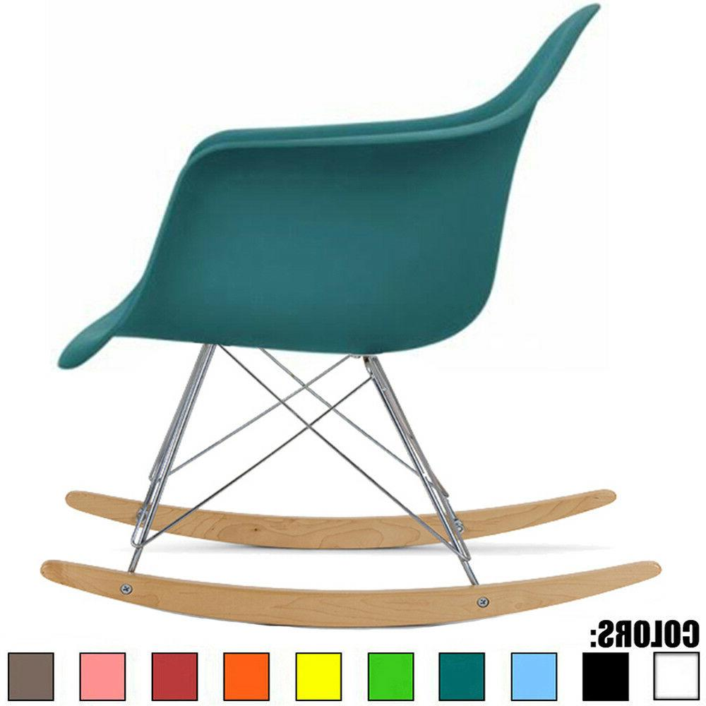 2xhome Teal - Eames Style Molded Modern Plastic Armchair Roc