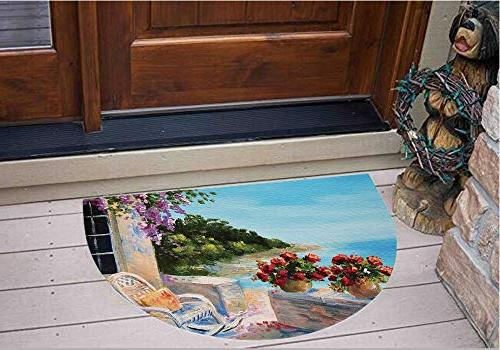 3d semicircle floor stickers personalized