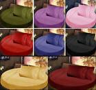 """6PC Round Bed Sheet Set 14"""" Inches Deep Pocket 1000TC All Di"""
