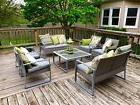 8 PC Outdoor Rattan Wicker Patio Furniture Set Sectional Gar