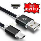 Lot 6FT USB Type C Data Sync Charger Charging Cable for Sams