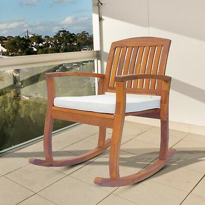 acacia wood outdoor rocking chair patio furniture
