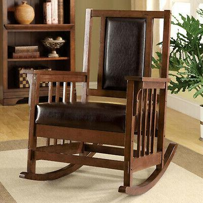 Apple Valley Mission Rocker Rocking Chair Solid Wood Padded