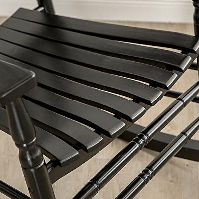 B&Z Black Rocking Chairs Adult Patio Carved Vintage Outdoor Indoor