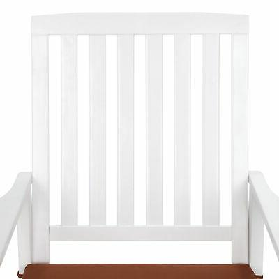 BCP Wood Rocking Chair for Indoor, Cushion, Back