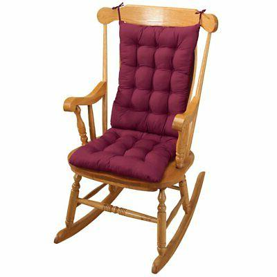 Best Two Piece Rocker Rocking Chair Cushions Seat & Back Pad